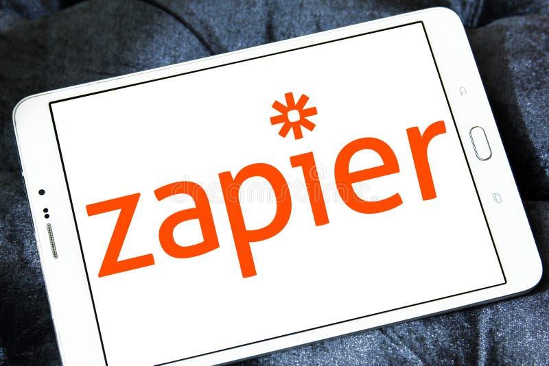 Logotipo do corporaçõ de Zapier imagem de stock