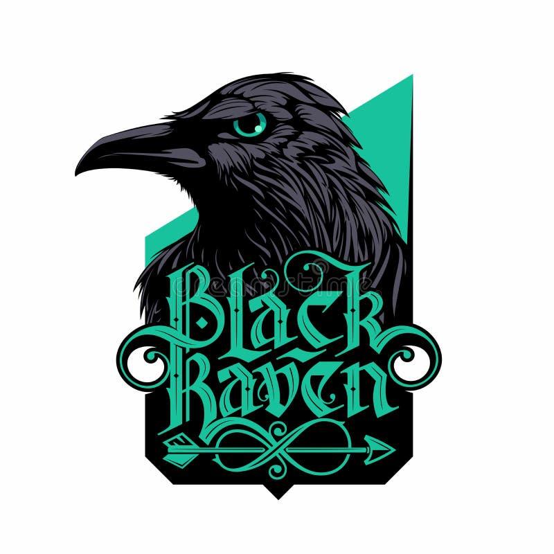 Logotipo do corvo ilustração do vetor