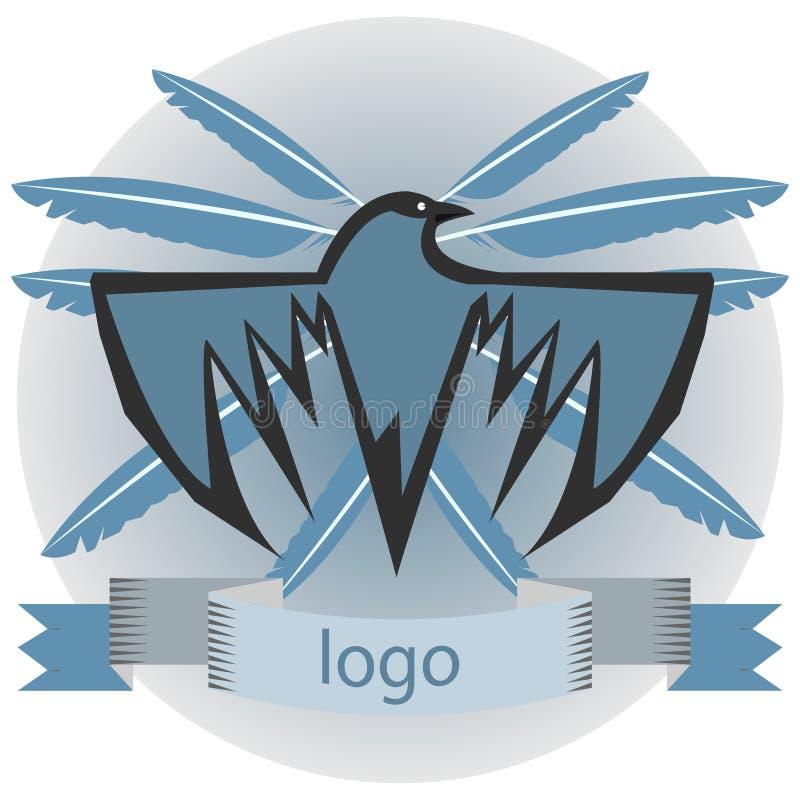 Logotipo do corvo ilustração royalty free