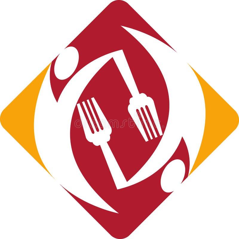 Logotipo do cozinheiro ilustração stock