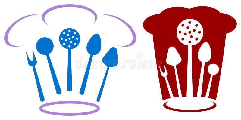 Logotipo do cozinheiro chefe ilustração stock