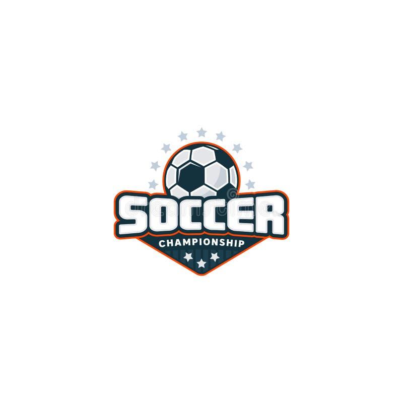 Logotipo do crachá do futebol fotografia de stock royalty free