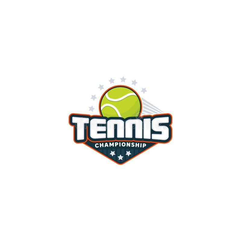 Logotipo do crachá do tênis imagem de stock royalty free