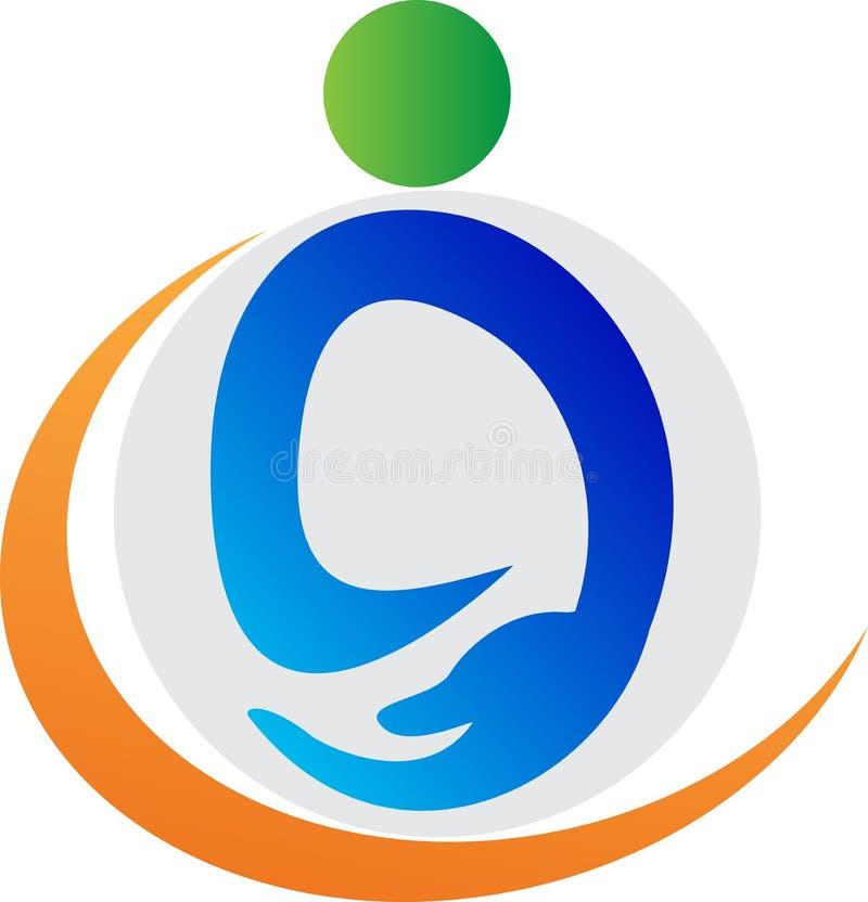 Logotipo do cuidado ilustração do vetor