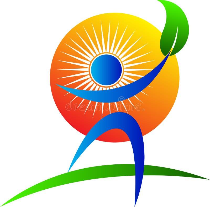 Logotipo do cuidado da natureza ilustração stock