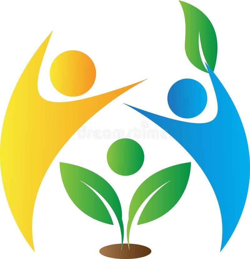Logotipo do cuidado de Enironmental ilustração stock