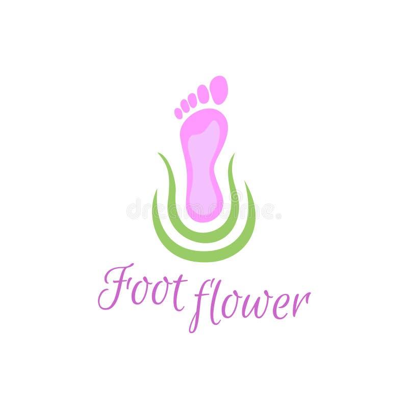 Logotipo do cuidado de pé ilustração stock