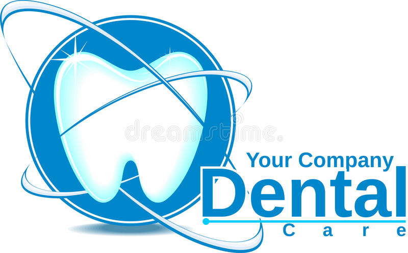 Logotipo do cuidado dental ilustração do vetor
