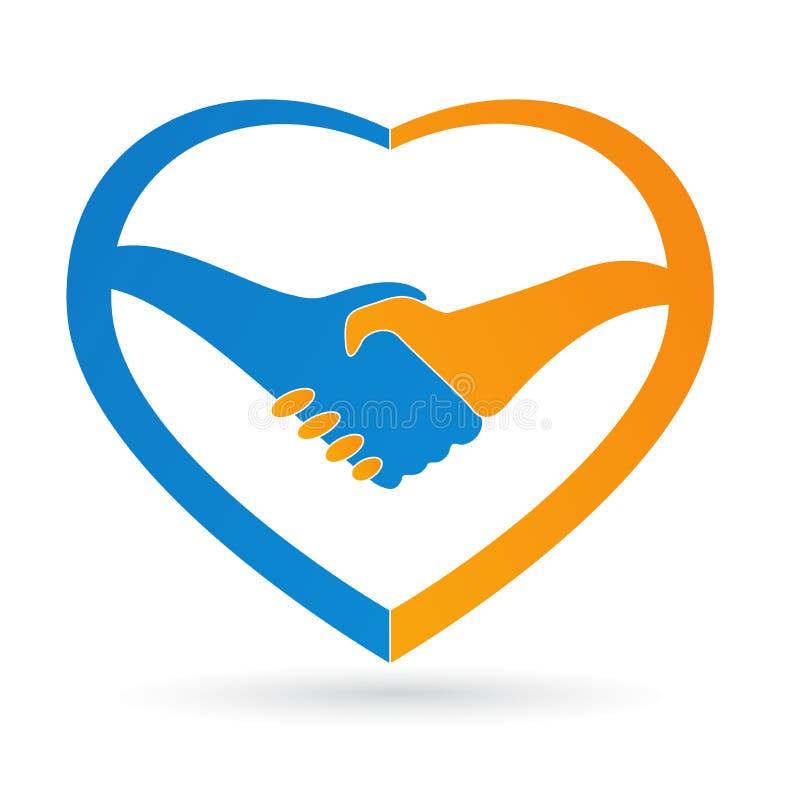 Logotipo do cuidado do coração ilustração royalty free