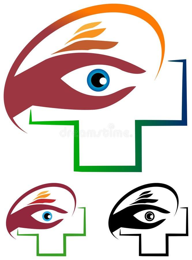 Logotipo do cuidado do olho ilustração royalty free