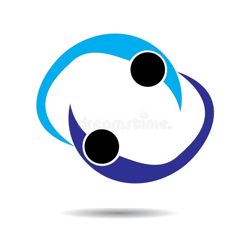 Logotipo do cuidado dos povos Médico, inovativo ilustração do vetor