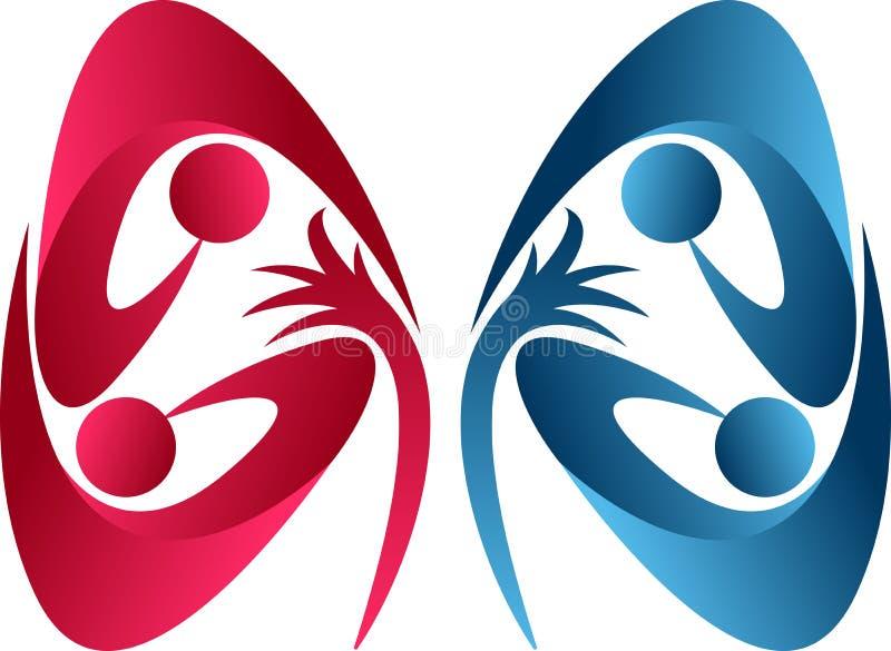 Logotipo do cuidado do rim ilustração stock
