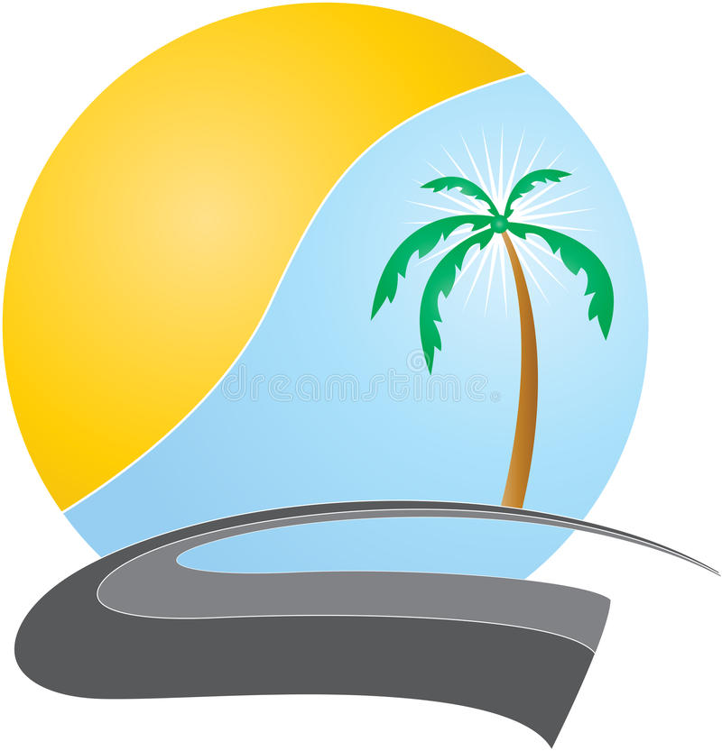 Logotipo do curso ilustração stock
