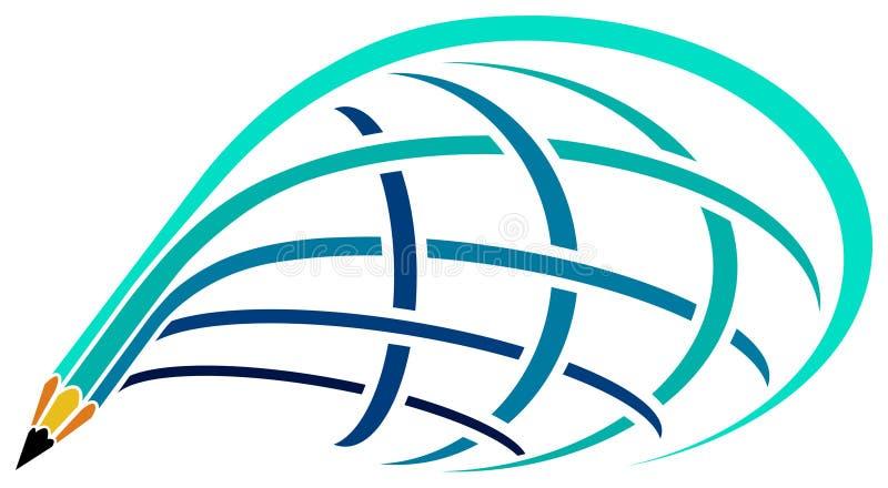 Logotipo do curso ilustração royalty free