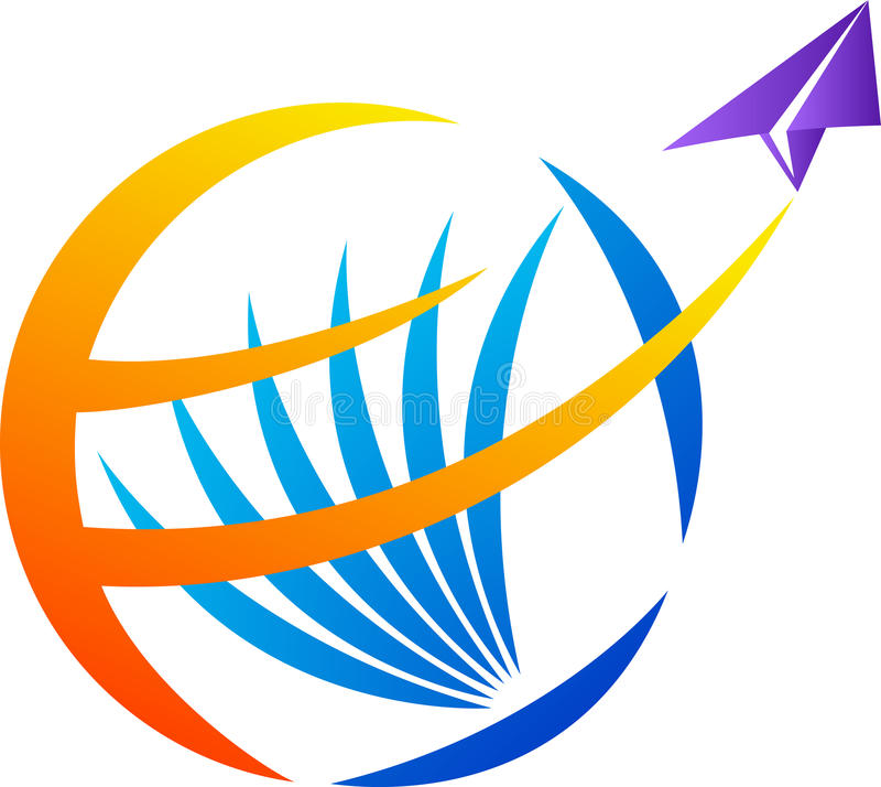 Logotipo do curso do mundo ilustração royalty free