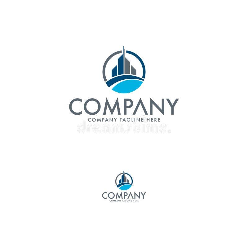 Logotipo do DB da letra Molde criativo do projeto do logotipo dos bens imobiliários ilustração do vetor