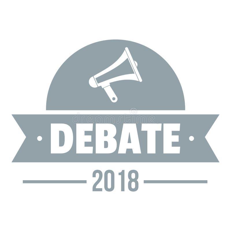 Logotipo do debate, estilo cinzento simples ilustração do vetor