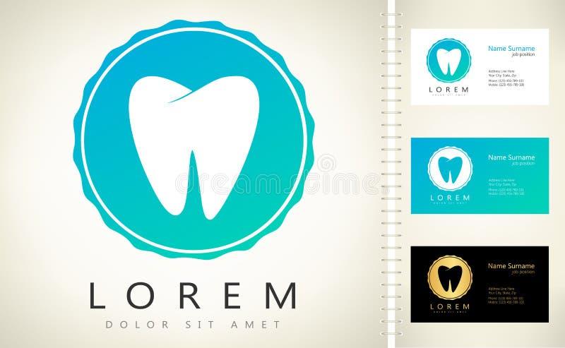 Logotipo do dente ilustração stock