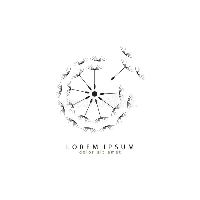 Logotipo do dente-de-leão Logotipo moderno ilustração eps 10 do vetor do ícone do dente-de-leão ilustração do vetor