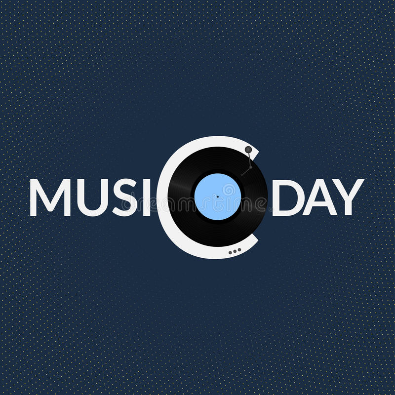 Logotipo do dia da música do mundo ilustração royalty free