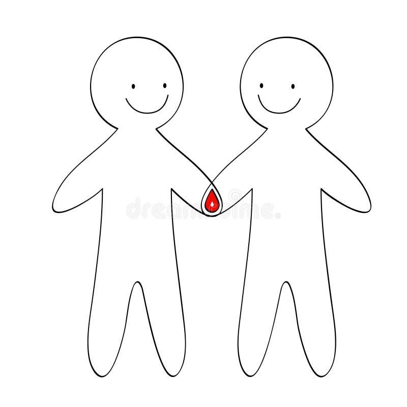 Logotipo do doador de sangue ilustração royalty free