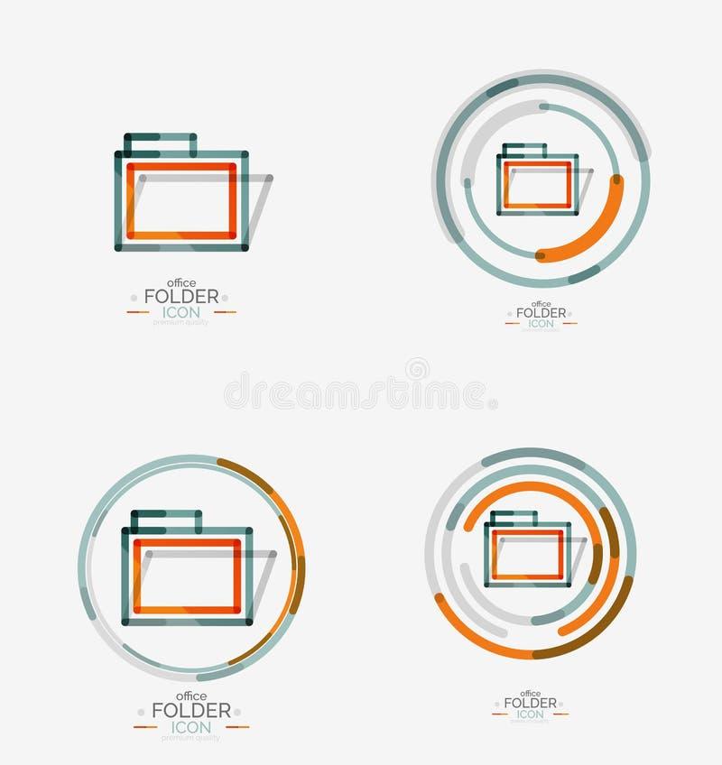 Logotipo do dobrador, selo Pasta da contabilidade ilustração royalty free