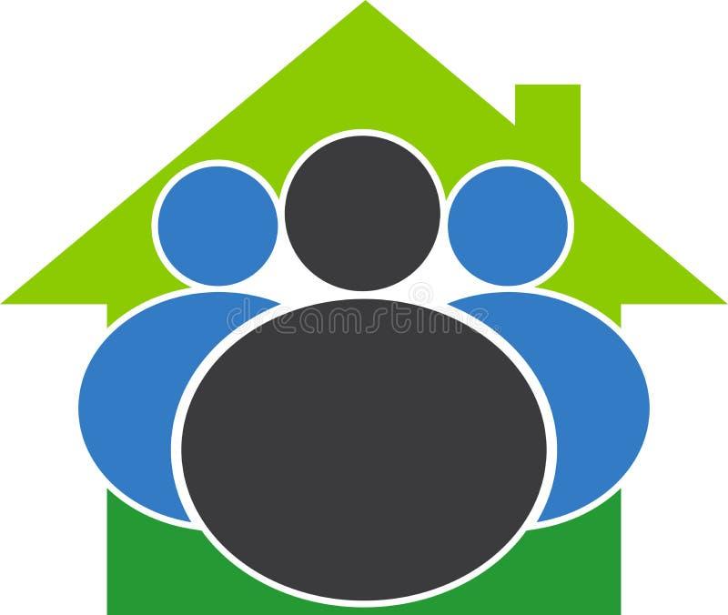 Logotipo do domicílio familiar ilustração stock