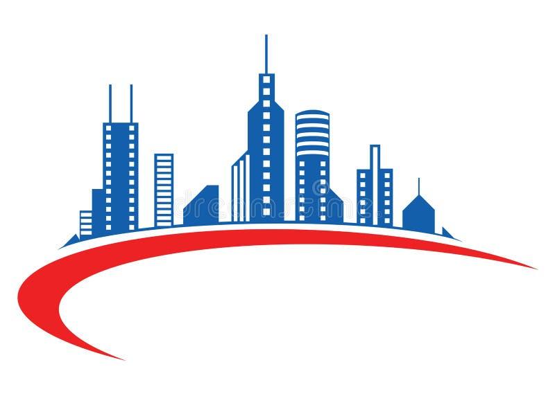Logotipo do edifício ilustração stock