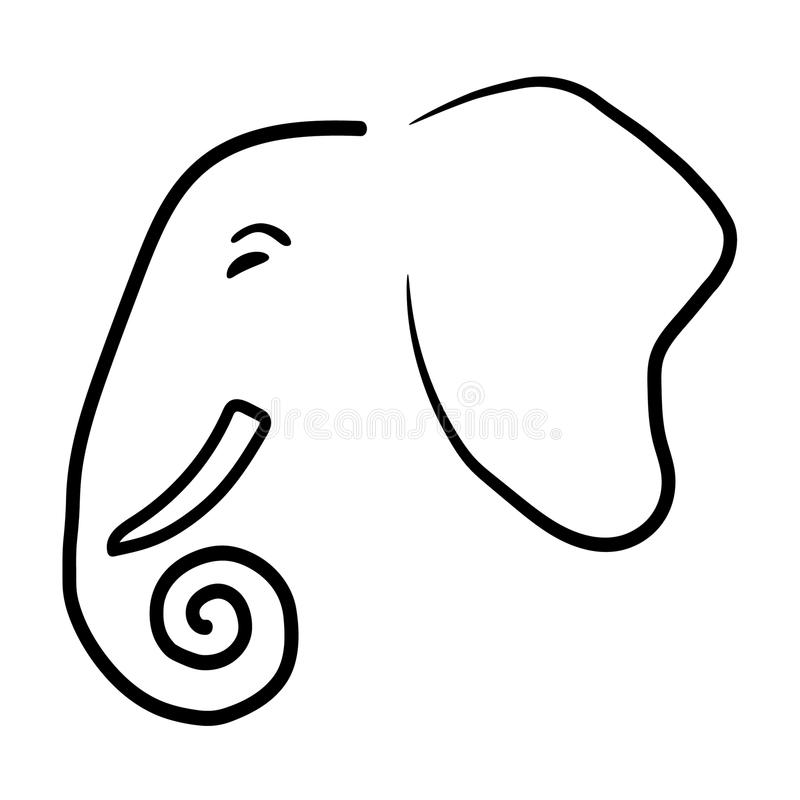 Logotipo do elefante imagem de stock