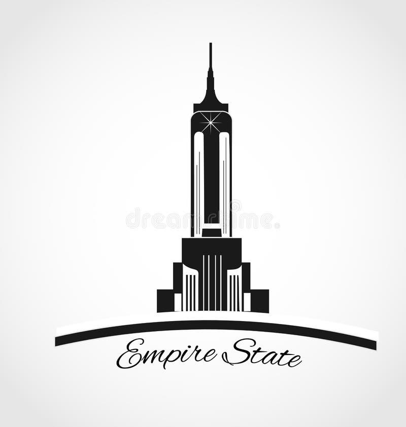 Logotipo do Empire State Building ilustração stock