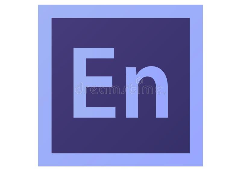 Logotipo do encore CS6 de Adobe ilustração do vetor