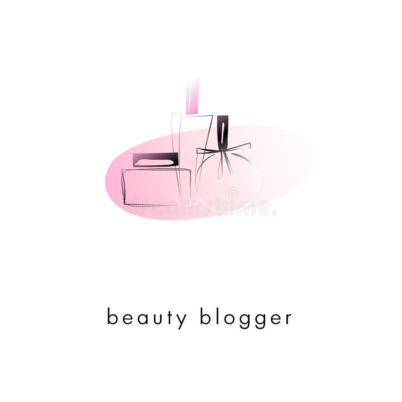 Logotipo do esboço do perfume, desenho artístico do vetor ilustração royalty free
