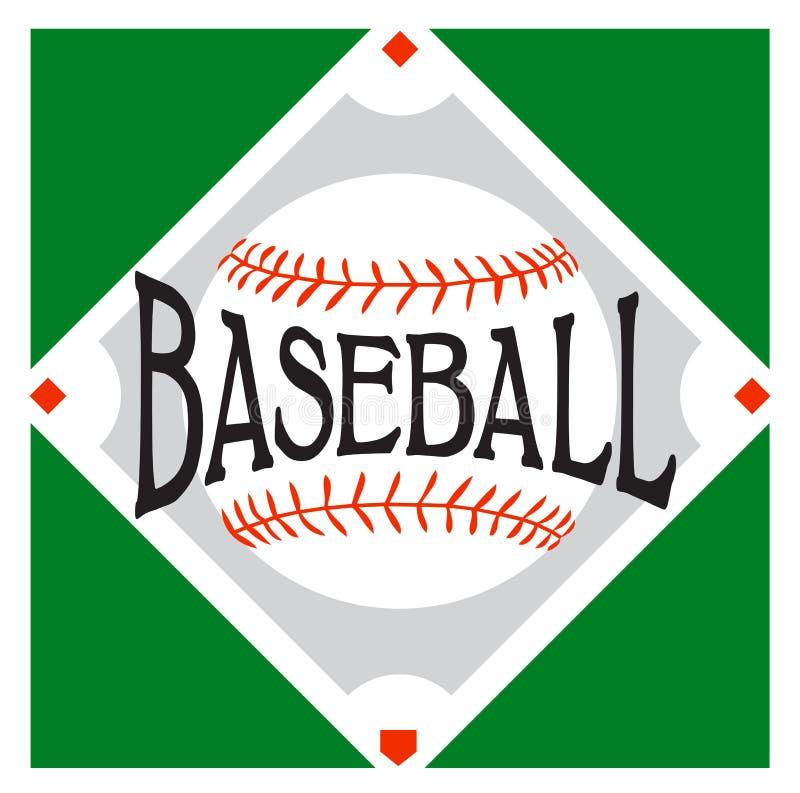 Logotipo do esporte do basebol ilustração stock