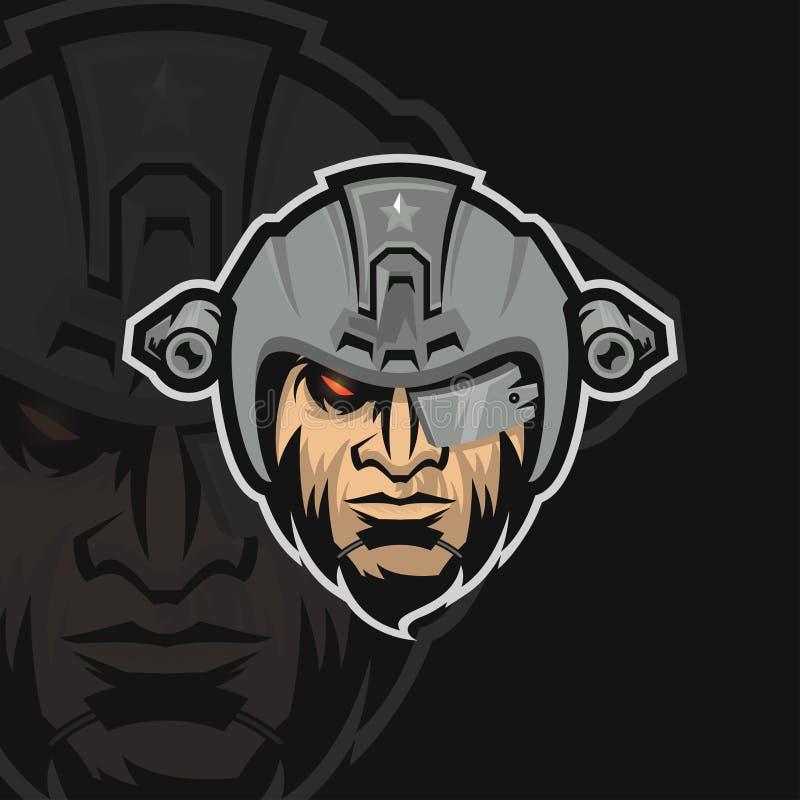 Logotipo do esporte do exército e da elite ilustração royalty free