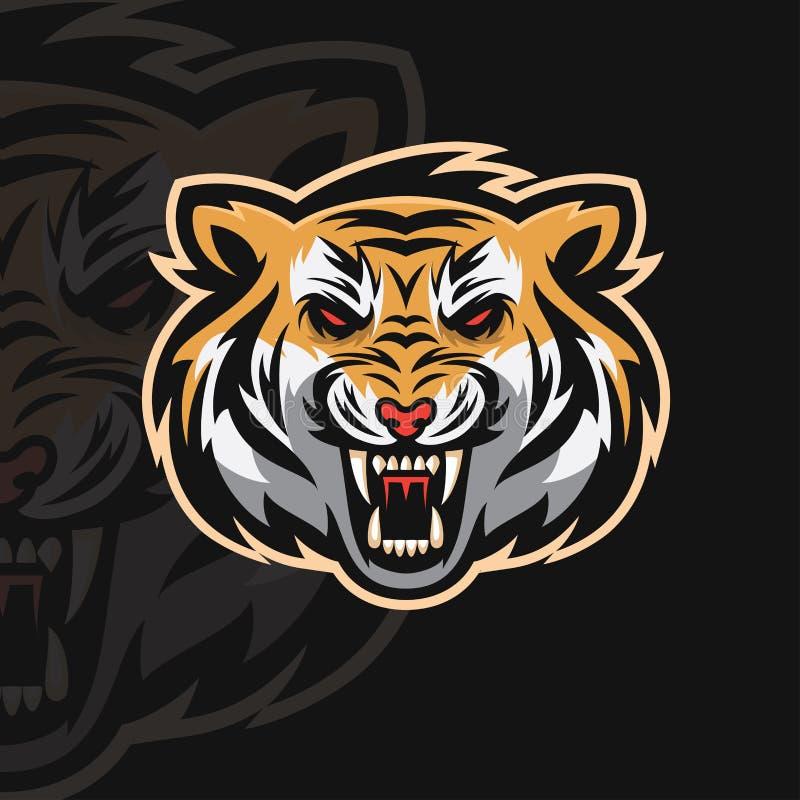Logotipo do esporte do tigre e ilustração do vetor