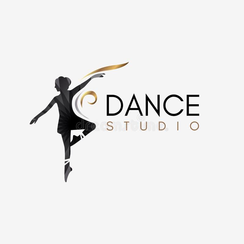 Logotipo do estúdio da dança do bailado ilustração royalty free
