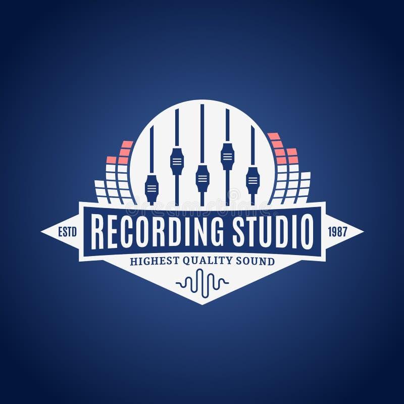 Logotipo do estúdio de gravação ilustração do vetor