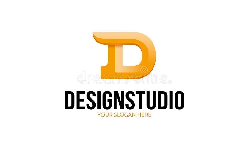 Logotipo do estúdio do projeto ilustração stock