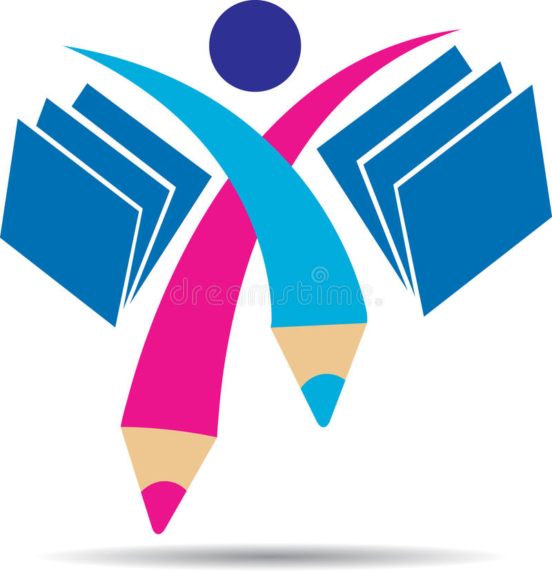 Logotipo do estudante ilustração stock