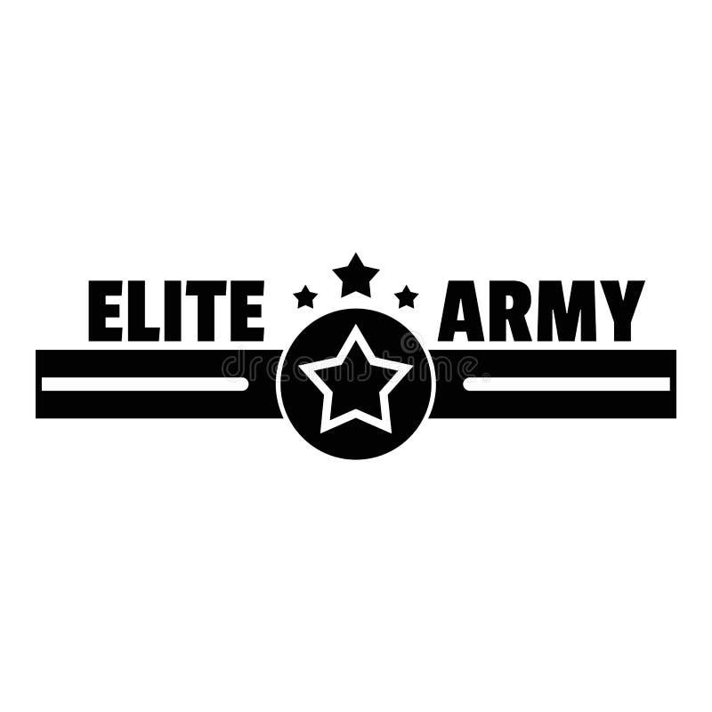 Logotipo do exército da elite, estilo simples ilustração stock