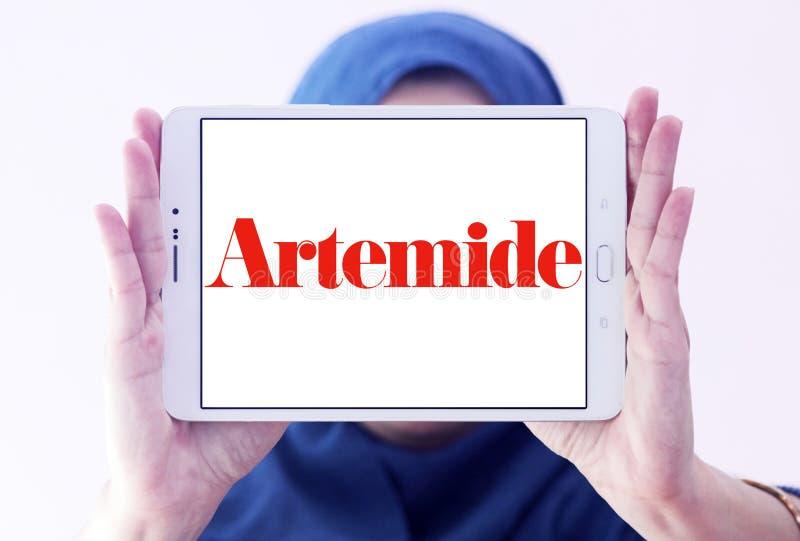 Logotipo do fabricante da iluminação de Artemide fotos de stock royalty free