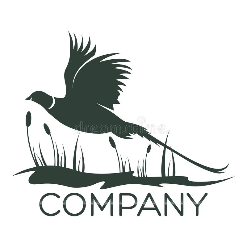 Logotipo do faisão do pássaro Ilustração do vetor ilustração royalty free