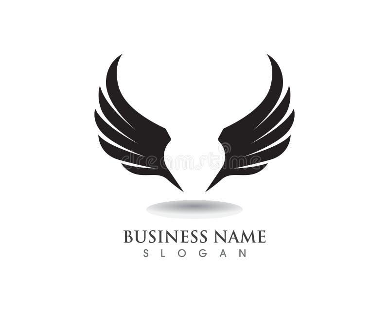 Logotipo do falcão da asa de Eagle e vetor do molde dos símbolos ilustração royalty free