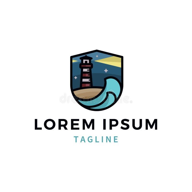 Logotipo do farol ilustração stock