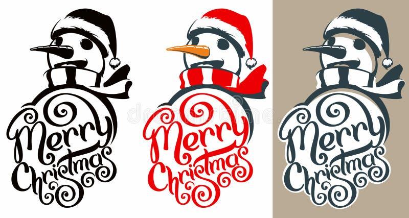 Logotipo do Feliz Natal ilustração do vetor