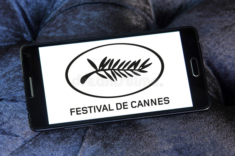 Logotipo do festival de cinema de Cannes imagem de stock royalty free