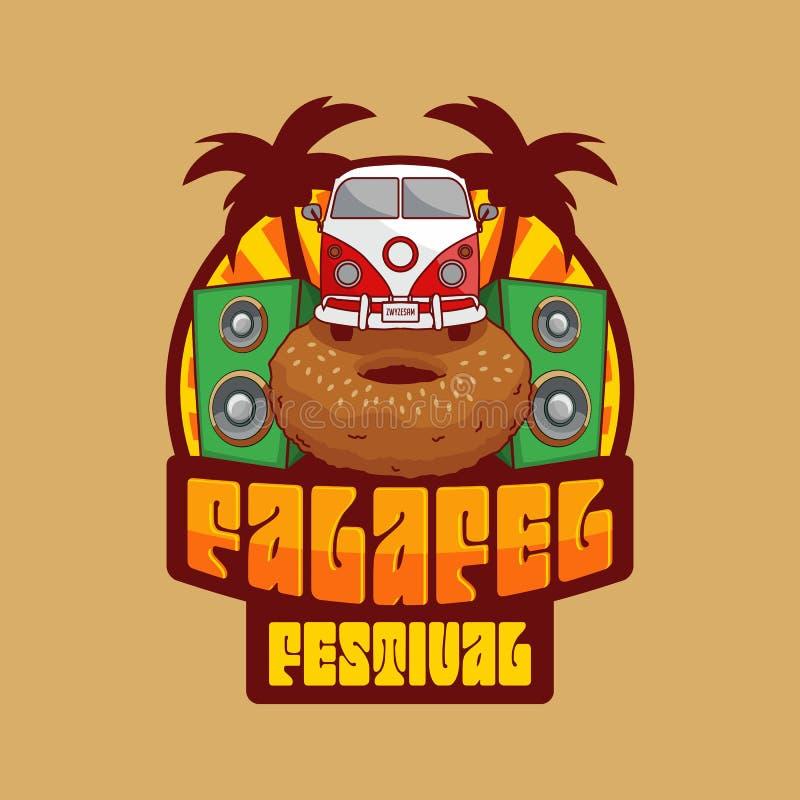 Logotipo do festival do Falafel ilustração royalty free