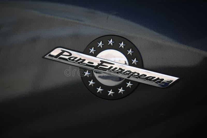 Logotipo do fim pan-europeu de Honda ST1100 do velomotor acima imagem de stock royalty free