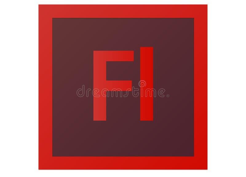 Logotipo do flash CS6 de Adobe ilustração stock
