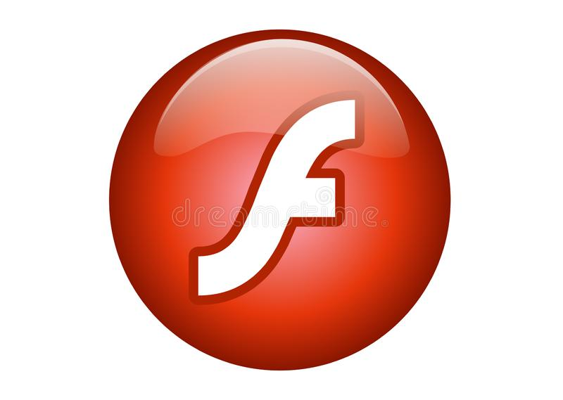 Logotipo do flash 8 de Adobe ilustração do vetor